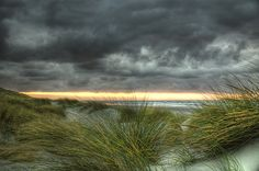 Northsea sunset    On Ameland, one of the Dutch islands.
