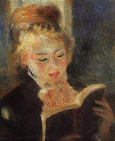 르느와르 독서하는 소녀