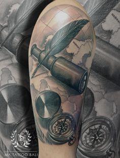 Traveler Compass Tattoo by: Prima #MaTattooBali #CompassTattoo #RealistTattoo #BaliTattooShop #BaliTattooParlor #BaliTattooStudio #BaliBestTattooArtist #BaliBestTattooShop #BestTattooArtist #BaliBestTattoo #BaliTattoo #BaliTattooArts #BaliBodyArts #BaliArts #BalineseArts #TattooinBali #TattooShop #TattooParlor #TattooInk #TattooMaster #InkMaster #AwardWinningArtist #Piercing #Tattoo #Tattoos #Tattooed #Tatts #TattooDesign #BaliTattooDesign #Ink #Inked #InkedGirl #Inkedmag #BestTattoo #Bali Ma Tattoo, Piercing Tattoo, Tattoo Shop, Tattoo Studio, Tattoo Master, Ink Master, Tattoos For Guys, Cool Tattoos, Tattoo Ideas