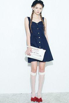 merry jenny(メリージェニー)★Fボタンデニムワンピース【281430331301】★ViVi公式ファッション通販|NET ViVi CC