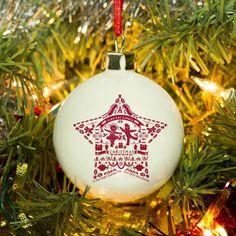 Christmas Tree Baubles, Christmas Eve Box, Christmas Decorations, Holiday Decor, Customised Gifts, Night Garden, The Ordinary, Decorative Items, Artisan