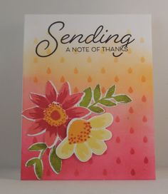 Lin's Craft Corner: Make It Monday #241 with Betsy - Ombre Stenciled Backgrounds