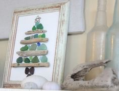 sea glass and driftwood christmas craft - the space between