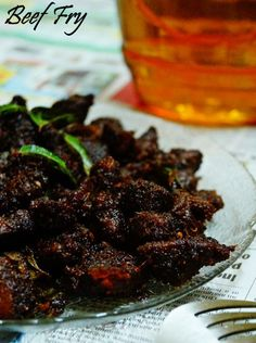 Beef Fry in coconut oil Recipe. Now this isn't for the faint of heart. It's a must with this dish to go easy on the oil and thus kick off for once the calori...