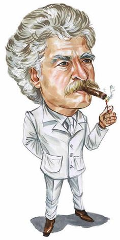 Mark Twain from the Dave Thomson collection (http://steamboats.com/museum/davet.html)