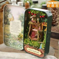 CUTE ROOM DIY Doll House Miniature Wooden Dollhouse Miniatures Furniture Toy Doll House Theatre Trilogy