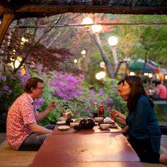 San Maul restaurant at the foot of Gwanak Mountain (Anyang, South Korea).
