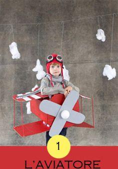 costume aviatore, costume pilota, costumi carnevale fai da te, aereo cartone,