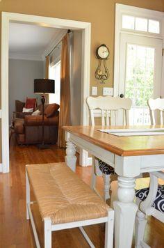 I like the gold walls for my kitchen. ...Kitchen Tour #homedecor