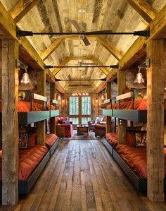 Northern Wisconsin bunk house. Builder: John Kraemer & Sons. TEA2 Architects. Interiors by Marcia Morine. Landmark Photography.