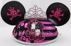 Disney Parks Pirate Princess Crown Mickey Mouse Ears Hat Youth New