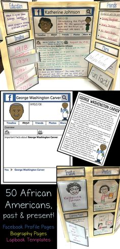 Teaching about African Americans to your students during Black History Month will be easy with this resource! Students can make activities like lapbooks, bulletin board displays and biography posters and books! Learning about African Americans is engaging!