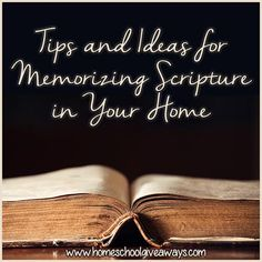 Tips and Ideas for Memorizing Scripture in Your Home