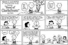 Charlie Brown football gag where the whole gang is trying to trick him.