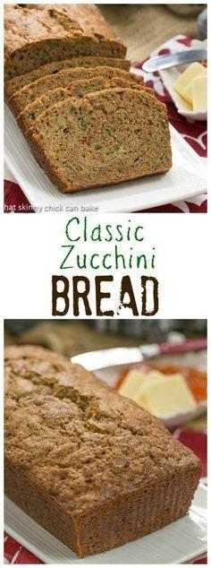 Home Made Doggy Foodstuff FAQ's And Ideas Classic Zucchini Bread An Irresistible Cinnamon Spiced Quick Bread Recipe Lizzydo Zucchini Bread Recipes, Quick Bread Recipes, Muffin Recipes, Baking Recipes, Bake Zucchini, Zucchini Desserts, Zucchini Relish, Bread Cake, Dessert Bread