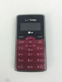 LG enV2 VX9100 Maroon Red Verizon No Contract QWERTY Basic Cell Phone 065281081381 | eBay