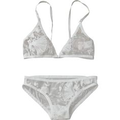 Sheer Tulle Bra And Panty Lingerie Set (€15) ❤ liked on Polyvore featuring intimates, zaful, see through lingerie, white lingerie, sheer lingerie and transparent lingerie