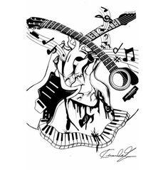 Tattoovorlagen-musikalische Motive-abstrakt