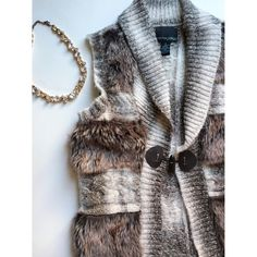 Faux Fur Vest Beautiful faux fur vest Cynthia Rowley Jackets & Coats Vests