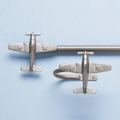 Airplane Curtain Rods & Holdbacks