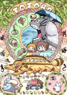 Art nouveau Studio Ghibli - Marlboro Pixiv user marlboro creates richly detailed portraits of the characters from Hayao Miyazaki's films. Each art nouveau-flavored illustration is packed with images. Art Studio Ghibli, Studio Ghibli Films, Studio Ghibli Characters, Studio Ghibli Poster, Anime Characters, Hayao Miyazaki, Art Nouveau Poster, Poster Art, Art Posters