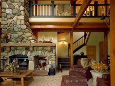 Lek Ranch   Sarah Nettleton Architects #LivingRoom #StoneFireplace