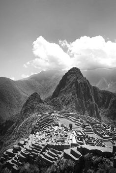 Black & White Machu Picchu #travel