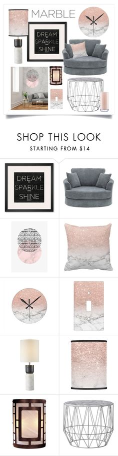 """Marble - Dream Sparkle Shine"" by bunnyfindsvintage ❤ liked on Polyvore featuring interior, interiors, interior design, home, home decor, interior decorating, CB2, Minka-Lavery, Kate Spade and marblehome"