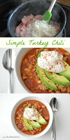 High Protein and low carb. This chili comes together so quick and easy. Delicious weeknight dinner!