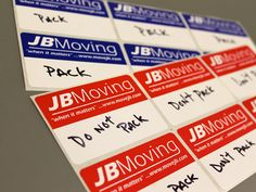 JB Moving Services, A Professional, Full Service Moving & Storage Company providing local and long distance moving, containerized storage and self storage. Moving And Storage, Self Storage, Moving Services, Office Environment, Moving Tips, Label, Stress, Packing, Tools