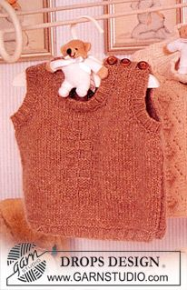 DROPS Baby 11-24 - Sleeveless jumper in Karisma. - Free pattern by DROPS Design