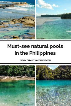 A list of breathtaking natural pools in the Philippines. Image credit to various sources.
