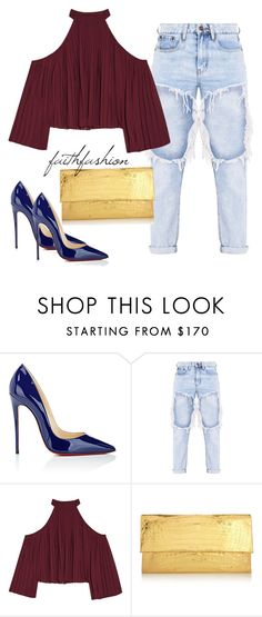 """Untitled #477"" by faithfashionash on Polyvore featuring Christian Louboutin, W118 by Walter Baker and Nancy Gonzalez"
