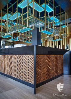 Beautiful wall covering at this bar