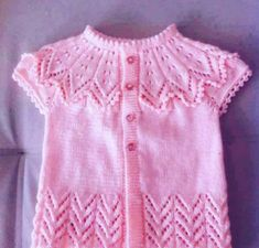 Embroidered Baby Vest Making Baby Knitting Patterns, Dress Design Patterns, Baby Dress Patterns, Dress Designs, Baby Pullover, Baby Cardigan, Crochet Baby Dress Pattern, Knit Fashion, Baby Sweaters