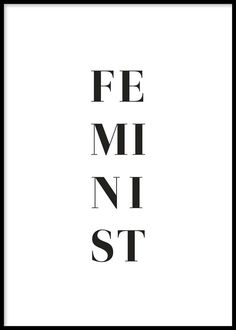 In black and white, split down the poster, this one word unlocks a sea of emotion. Find inspiration for your wall decor and look for more modern minimalist art prints and posters at Opposite Wall. Feminist Af, Feminist Quotes, Wallpaper Telephone, Black & White Quotes, Black And White Posters, Black And White Prints, Image Citation, Intersectional Feminism, Typography Prints