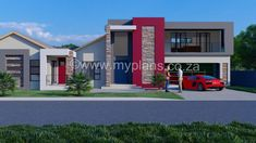 5 Bedroom House Plan - My Building Plans South Africa Round House Plans, Small Modern House Plans, Open Floor House Plans, Beautiful House Plans, Farmhouse Floor Plans, 6 Bedroom House Plans, Porch House Plans, Double Storey House Plans, House Plans Australia