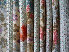 Silk Kimono Scrap Set of 10  Japanese textile by tomoandedie, $8.99