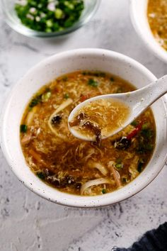 hot and sour soup|chinasichuanfood.com Fun Easy Recipes, Gourmet Recipes, Asian Recipes, Soup Recipes, Vegetarian Recipes, Cooking Recipes, Healthy Recipes, Ethnic Recipes, Hot And Sour Soup