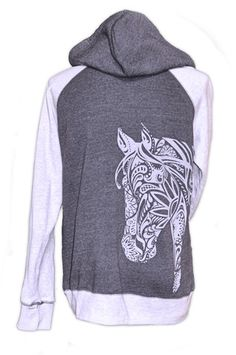 BoHo Horse Hoodie 2 Tone Horse Tshirt Fashionable horse tshirts for sales - Horse Tee - Hourse Tee for sales. - BoHo Horse Hoodie 2 Tone Horse Tshirt Fashionable horse tshirts for sales Horse Gifts, Gifts For Horse Lovers, Toned Women, Horse Shirt, Clothes Horse, Riding Clothes, Riding Outfits, Cowgirl Outfits, Cowgirl Style