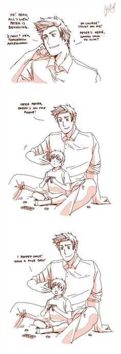 Have a nice day by Hubedihubbe on deviantART. Peter and Uncle Denmark.