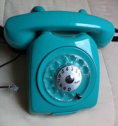 ( Pa.espaçodearte ) Telefone Ericsson Azul Turquesa - Lindo