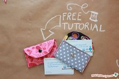 This little card wallet is a snap to make! Stitch up a few as quick gifts.