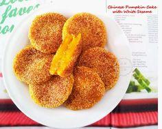 Little Joy Factory: Pan Fried Chinese Pumpkin Cake with White Sesame 香煎芝麻南瓜饼