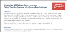 Exhibitor Session: How to Stay In the Target Language When Teaching Grammar with Comprehensible Input! Comprehensible Input, Teaching Grammar, Spanish Classroom, Milwaukee, Discovery, Conference, The 100, Target, Presentation