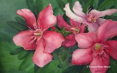 A watercolor by Yvonne Mucci, who will be painting during the 2013 Arts In Bloom. www.artsinbloomnj.com