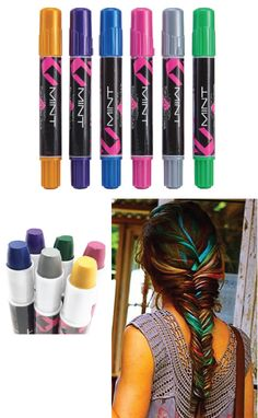 Edge Chalkers Temporary Hair Coloring Chalk for fun and colorful hair. stocking stuffers for teens. #Christmas