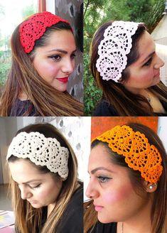 Hair Fashion// Orange Headband/ Crochet Headband/ Handmade Headband/ Summer Accessories/ Hallowen/ Gift For Mother's Day/ Hair Bandana