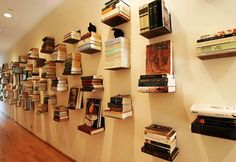 DIY Invisible Bookshelf — How to Store Books