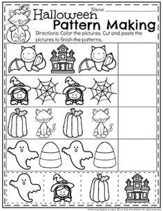 Looking for fun Preschool Halloween Activities? This set of fun Hands-on Centers and Printables are the perfect addition to your Preschool Halloween Theme. Halloween Theme Preschool, Halloween Worksheets, Halloween School Treats, Halloween Math, Fall Preschool, Preschool Learning Activities, Halloween Activities, Preschool Worksheets, Halloween Themes